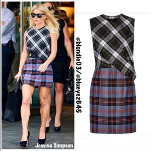 McQ by Alexander McQueen plaid dress IT 44 US 8